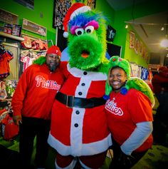 Fun with Phanta Claus! Come out to one of our free events at Citizens Bank Park to take holiday pictures - Phillies Holiday Sale & Tree Lighting (TBD) and the Phillies Authentics Clubhouse Sale (Dec.19)