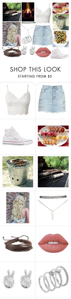 """""""Barbeque party"""" by musicmelody1 ❤ liked on Polyvore featuring Yves Saint Laurent, Converse, Garden Trading, Charcoal Companion, Wet Seal, Zodaca, Lime Crime, Rock 'N Rose and Vince Camuto"""