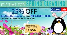 las vegas air conditioning maintenance coupon for 25% off a one time maintenance service, includes a chemical coil cleaning! Now's the best time to prepare your HVAC system for the summer! Visit http://www.gibsonair.com/specials/ for more energy and money saving deals or to schedule HVAC service in Las Vegas area.