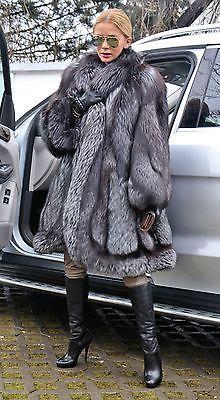 NEW SWINGER ROYAL SAGA SILVER FOX FUR COAT LIK SABLE MINK CHINCHILLA LYNX PONCHO | Clothing, Shoes & Accessories, Women's Clothing, Coats & Jackets | eBay!