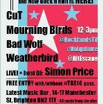10/5 @cuttheband @MourningBirds @UKBadWolf @WeatherbirdUK @simon_price01 @Michael Watts @latestmusicbar Brighton ROCK - via @playhardgigs