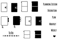 Planner Lover -- Clear Stamps Set A7