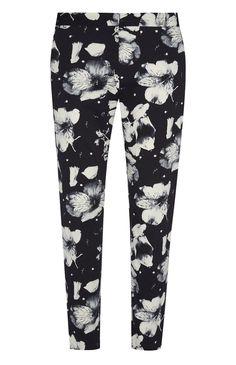 Primark - Marineblaue Slim-Fit-Hose mit Blumenmuster