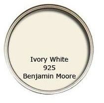 """Benjamin-Moore-Ivory-White-925 Benjamin Moore    """"IVORY WHITE""""      925 """"This color looks great everywhere.  It's a creamy, buttery white  that my  father  [decorator  Mark  Hampton]  liked  to  use,  but I'm even more obsessive about it.  Try an eggshell finish  on the walls to reflect light, but not look too glossy."""" -Alexa Hampton, interior designer"""