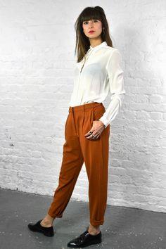 Samsoe & Samsoe Stamford Caramel Cafe Pants #rust #autumn/winter