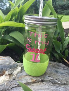 Mason Jar Tumbler - This Is My Sweet 16 by SamIAmCreative on Etsy