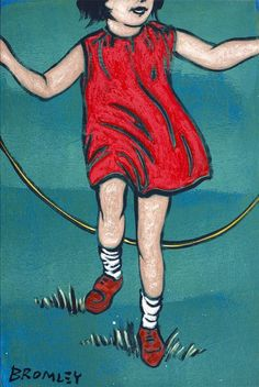 David Bromley - skipping girl