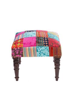 Velvet Patch Footstool. To go with THAT chair in my gypsy caravan! :)