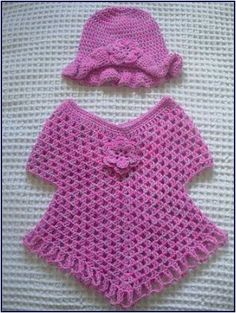Best 12 Crochet Patterns Poncho This post was discovered by Mar – SkillOfKing. Crochet Baby Poncho, Crochet Poncho Patterns, Crochet Baby Clothes, Baby Knitting, Girls Poncho, Baby Girl Dress Patterns, Rainbow Crochet, Crochet For Kids, Crochet Crafts
