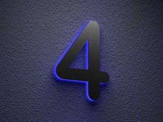 medium sized steel house number with led giving charming exterior touch for your house with
