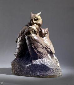 Édouard Marcel Sandoz Petits-Ducs dits «Hiboux»   Taille directe, pierre de Dordogne    1952
