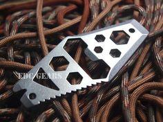 EDC Gear Multi tool Hex wrench Bottle opener Pry bar Nail puller Stainless steel #EDC