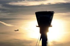 Departure International Civil Aviation Organization, Airport Design, Heathrow Airport, Dusk, Night, Towers, Aprons, Airplanes, Travel
