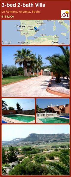 3-bed 2-bath Villa in La Romana, Alicante, Spain ►€185,000 #PropertyForSaleInSpain