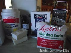Beccis Domestic Bliss: Homemade Washing Powder Tutorial The Effective Pictures We Offer You About DIY Laundry room A quality picture can tell you many things. You can find the most beautiful pictures Homemade Washing Powder, Powder Laundry Detergent, Laundry Powder, Washing Detergent, Homemade Laundry Detergent, Washing Soda, Laundry Room, Natural Cleaning Products, Natural Products