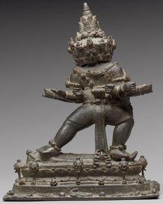 The Buddhist Guardian Mahabala Century CE Metalwork; Java, Malay Archipelago, Srivijaya/Kediri Empire) CE Gift of Evelyn Kossak, The Kronos Collections, Met Museum) _______________________________ Bronze Buddhism Symbols, Ancient Symbols, Indonesian Art, Javanese, Thai Art, Buddhist Art, Southeast Asia, Asian Art, Art History
