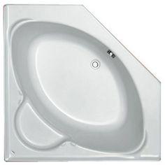 Plieger Contour kunststof hoekbad acryl vijfhoekig met paneel wit 125x125cm