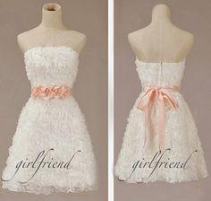 Cute stapless prom dress / bridesmaid dress #coniefox #2016prom