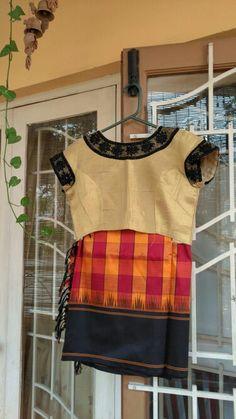 Silk saree wroke blouse