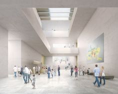 Architecture, interior architecture, graphic design and design related to current news and sample designs. Graphics and architectural design with news Museum Architecture, Architecture Visualization, Architecture Drawings, Interior Architecture, Library Architecture, David Chipperfield Architects, Interior Design Colleges, Design Museum, Atrium