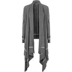 Donna Karan Draped cashmere-blend cardigan ❤ liked on Polyvore