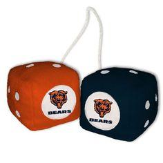 Chicago Bears Plush Fuzzy Dice