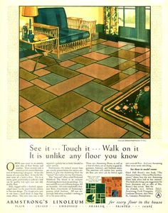 Armstrong Linoleum -1927 - I want this floor