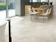 Walks, by Floor Gres, features the look of quartzite in a through-body porcelain tile.