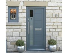 LOVE modern painted front door
