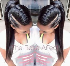 Simple Mohawk braids