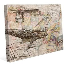 """Click Wall Art 'Map of the Sky' Graphic Art on Wrapped Canvas Size: 30"""" H x 40"""" W x 1.5"""" D"""