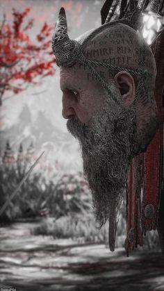 Super Nintendo, Character Art, Character Design, Kratos God Of War, Vikings Game, War Tattoo, Nordic Tattoo, Viking Warrior, Viking Tattoos
