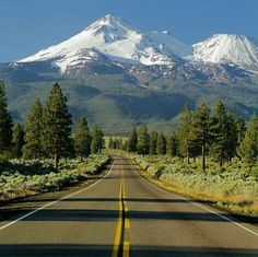 Mt Shasta, California. Beautiful Roads, Beautiful Places To Travel, Mount Shasta California, California Wallpaper, Places In California, Going On A Trip, Landscape Pictures, State Parks, Landscape Photography