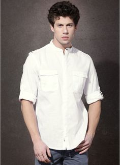 Roadster White Solid Regular Fit Casual Shirt Rs.780 Buy Now:-http://www.jabong.com/Roadster-White-Solid-Regular-Fit-Casual-Shirt-300009820.html?pos=1