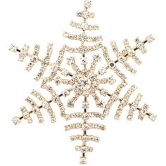 Lux Accessories Frozen Snow Flake Pave Xmas Christmas Pin Brooch... (13 CAD) ❤ liked on Polyvore featuring christmas, fillers, jewelry, backgrounds and accessories