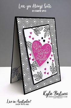 Kylie's Demonstrator Training Program Blog Hop January 2021 | Love You Always Suite - Kylie Bertucci Love Always, Love You, Love Valentines, Training Programs, Kylie, Note Cards, Holiday Cards, Stampin Up, Finding Yourself