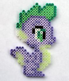 My Little Pony's Spike perler beads by ThePlayfulPerler on deviantART