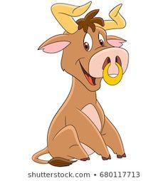 Cow Illustration, Buffalo Bulls, American Bull, Cartoon Characters, Fictional Characters, Portfolio, Ox, Scooby Doo, Coloring Pages