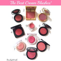 The Best Cream Blushes; pin, then click thru to get more information & application tips!