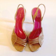 "Spotted while shopping on Poshmark: ""✨ KAT SPADE gold sling back sandals GUC""! #poshmark #fashion #shopping #style #kate spade #Shoes"