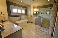 MB - Master bath - LOVE the colors and style