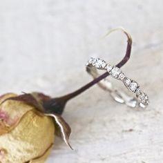 Diamonds are a girl's best friend...  #diamonds #whitegold #unique #engagementring #handmadejewelry #finejewelry #simpleandpure #michaelaroemer