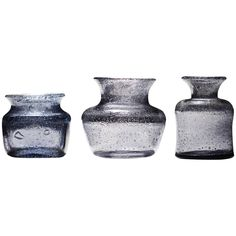Erik Hoglund Handmade Vases by the Artist for Boda | From a unique collection of antique and modern vases and vessels at https://www.1stdibs.com/furniture/decorative-objects/vases-vessels/