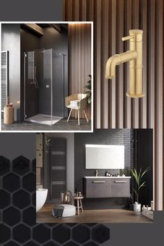 Utilising a combination of darker tones and industrial details, our indulgent bathroom design scheme is one that is edgy and versatile, on-trend and desirable. Spa Like Bathroom, White Bathroom, Modern Bathroom, Bathroom Bin, Bathroom Ideas, Large Bathrooms, Dream Bathrooms, Bathroom Interior Design, Interior Exterior