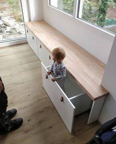 diy hacks wohnung : IKEA Hack: Banktruhen Stuva / Flja als Sitzbank . Bedroom Storage, Bedroom Decor, Kids Playroom Storage, Living Room Toy Storage, Storage Bench Seating, Bench Set, Kids Room Organization, Office Storage, Ikea Hack Kitchen