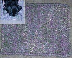 PUPPY MAT Crochet Pattern - Free Crochet Pattern Courtesy of Crochetnmore.com