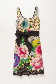 Anthropologie Multicolor Archival Collection Tropics Dress