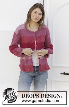 Cardigan Pattern, Sweater Cardigan, Cardigans, Sweaters, Drops Design, Knit Patterns, Knit Crochet, Knitting, My Style