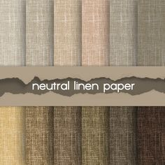 "Linen digital paper: ""LINEN NEUTRAL"" with natural earth tone linen / linen background in brown, grey, beige, canvas texture"