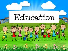 Free Images Download - Education Banner Represents Training Kid And College